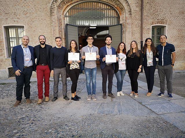 I 3 vincitori con le delegazioni SCI Giovani e Elsevier