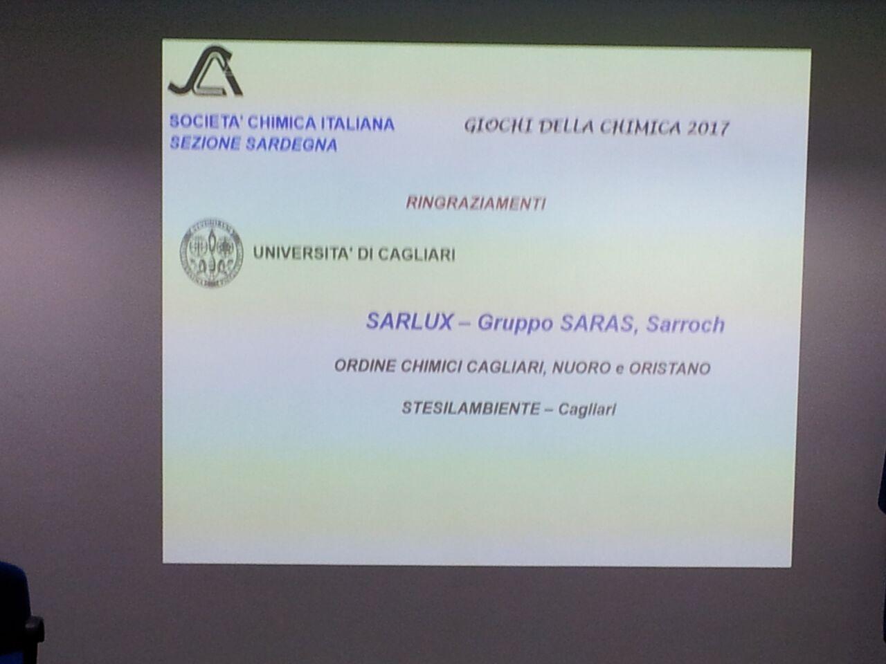Sezione Sardegna - Giochi della Chimica 2017 | Società